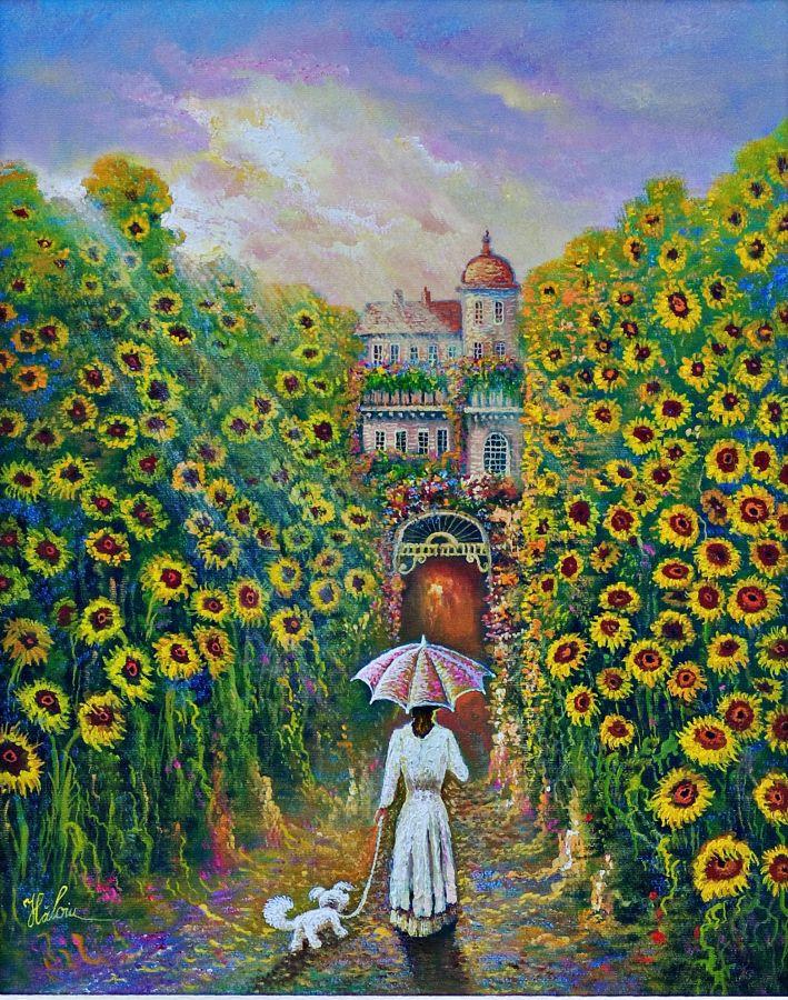 Conac cu floarea soarelui