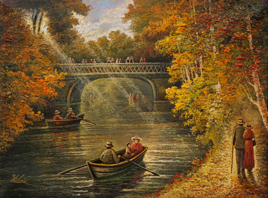 Cu barca în Cișmigiu