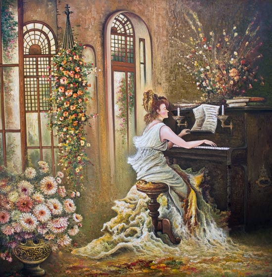Doamnă la pian
