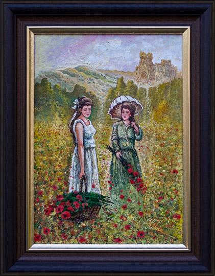 Fetele în lan cu maci