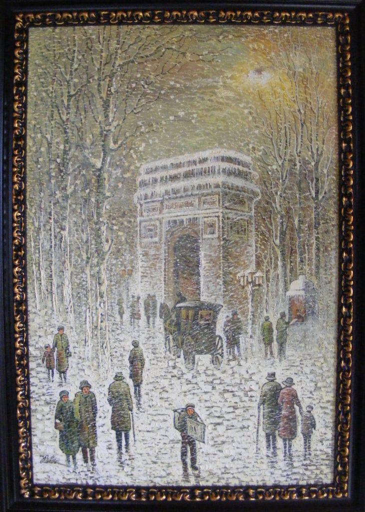Iarna la Arcul de Triumf