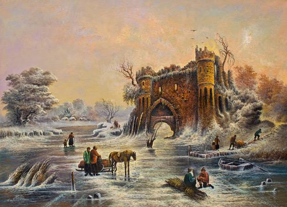 Iarna la castelul vechi