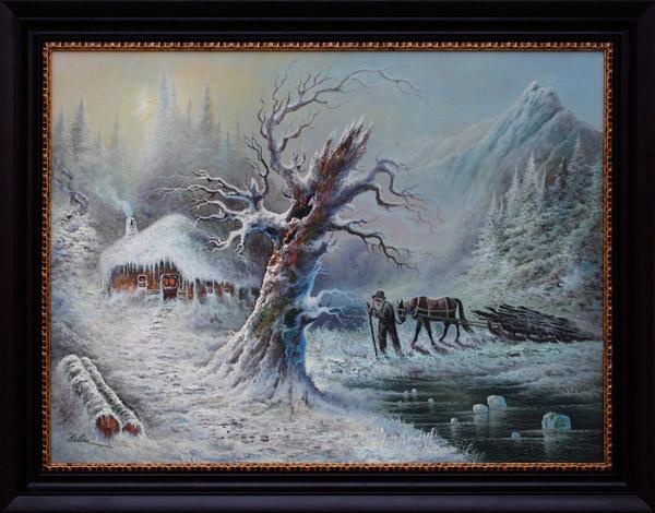 Iarna la lemne