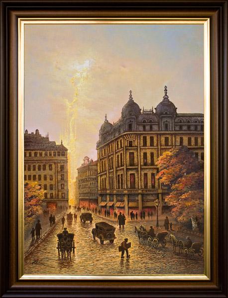 Piața Palatului și Academia Comercială